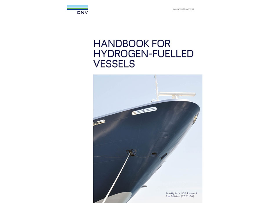 """Industry first: DNV and industry consortium publish """"Handbook for Hydrogen-fuelled Vessels"""""""