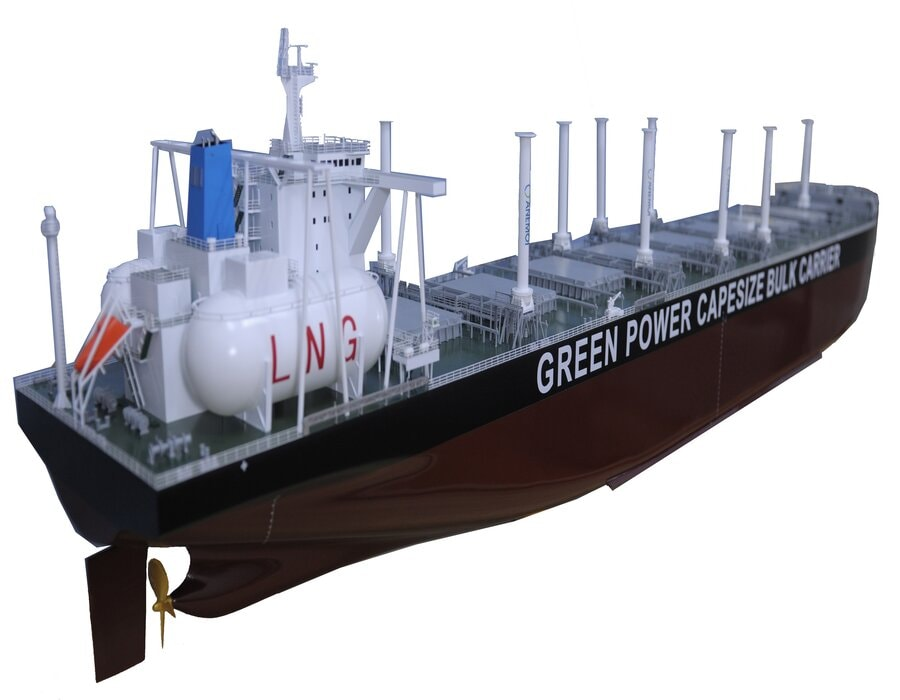 U-Ming Shipping 190,000 dwt bulk carrier newbuilds to be propelled by LNG bunker fuel