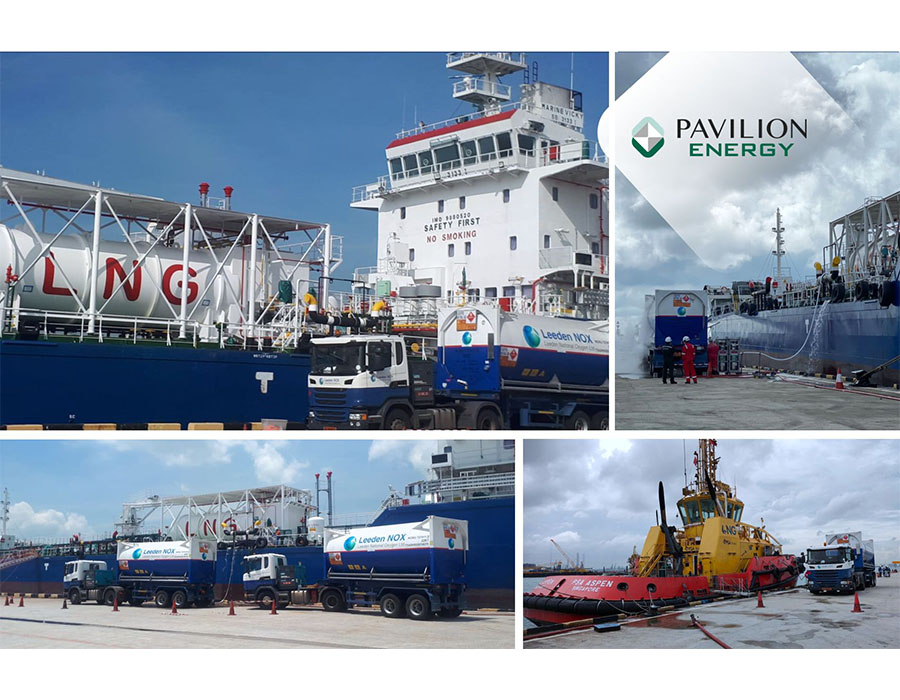 Pavilion Energy completes 100th truckload operation for LNG bunkering at Singapore port