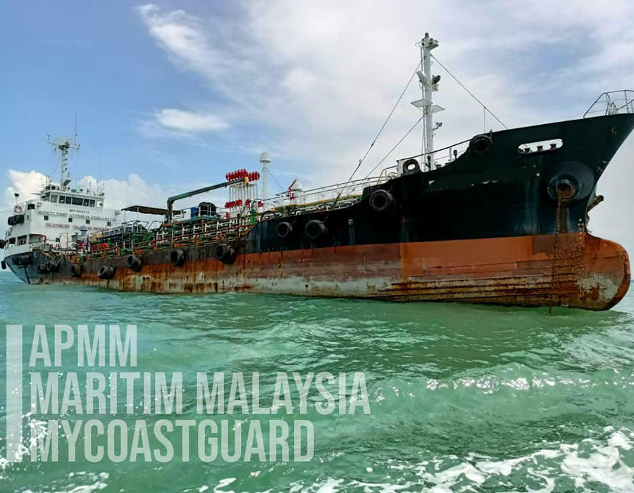 Malaysia: MMEA arrests Port Klang registered tanker over alleged illegal anchoring