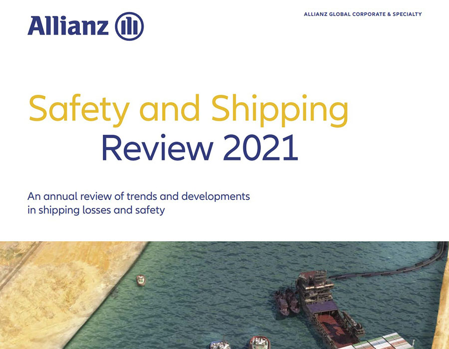 Allianz 'Safety & Shipping Review 2021' report touches on IMO 2020 challenges