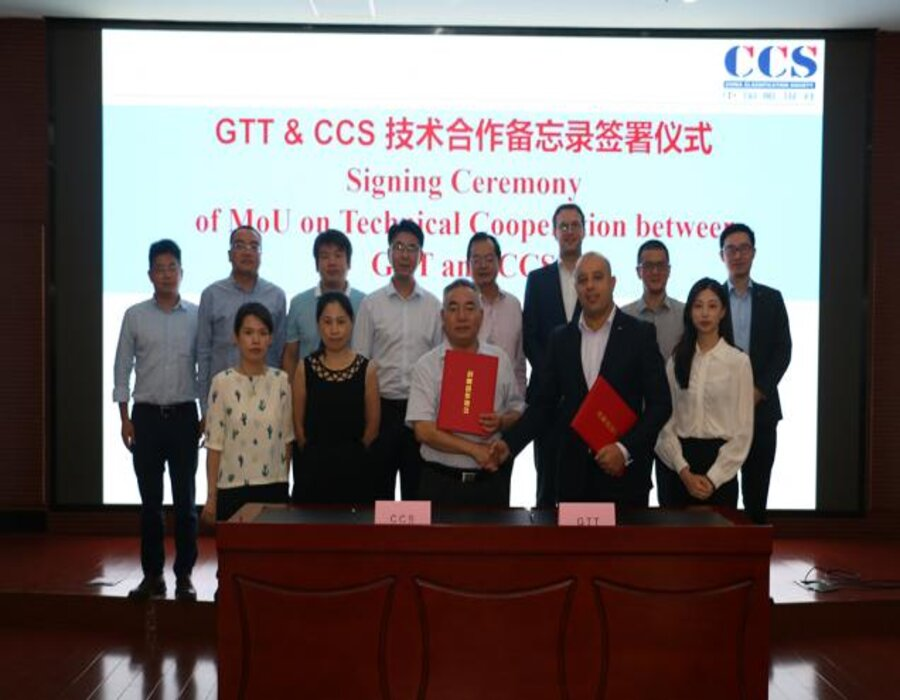 GTT and CCS Shanghai Rules & Research Institute sign MOU on technical cooperation