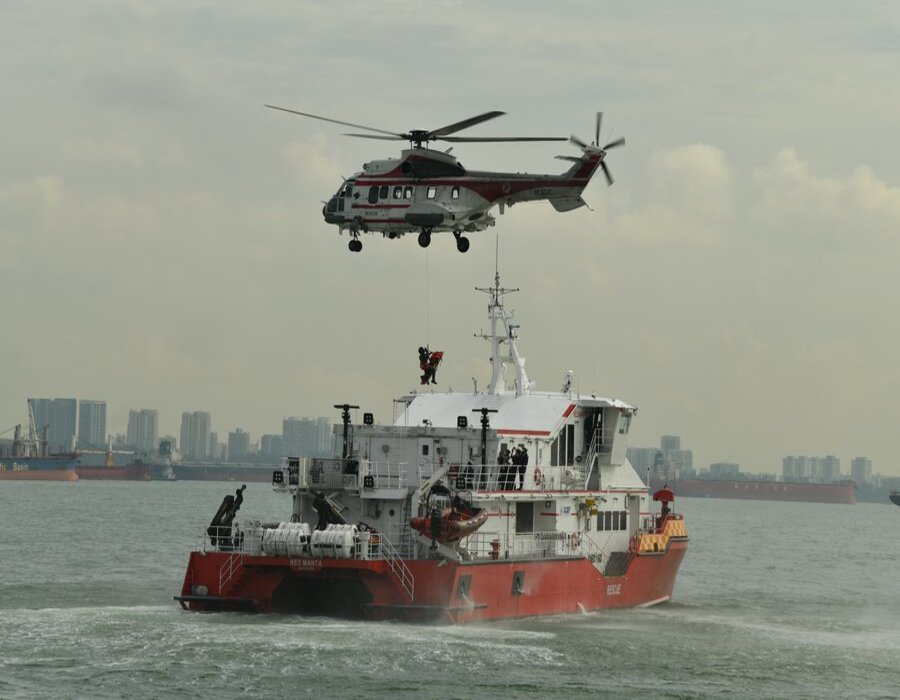 Multi-agency drill held to test Singapore's ferry mishap readiness and response