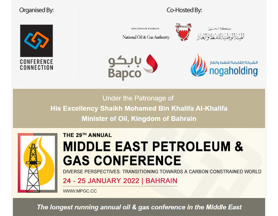 29th Annual Annual Middle East Petroleum & Gas Conference to take place on January 2022