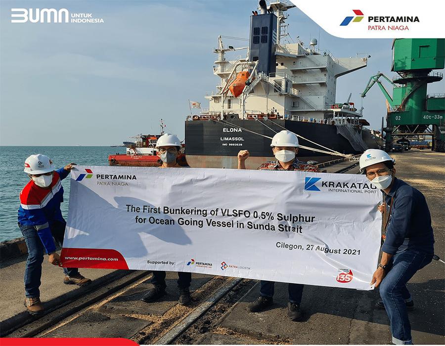 PT Pertamina Patra Niaga performs first bunkering of VLSFO in Sunda Strait