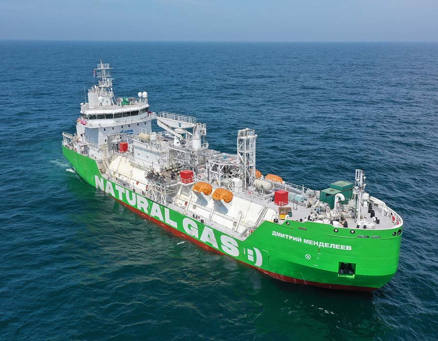 """Keppel O&M delivers Russia's first LNG bunkering vessel """"Dmitry Mendeleev"""""""