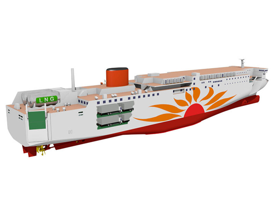 Mitsui O.S.K. Lines concludes first transition loan contract for two LNG-fuelled ferries