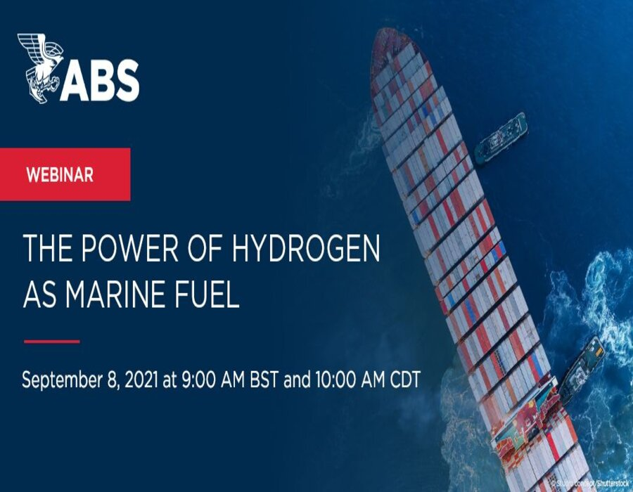 ABS announces upcoming webinar: The Power of Hydrogen as Marine Fuel