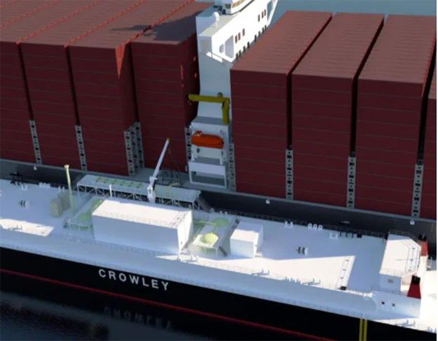 Crowley and Shell to build and charter largest LNG bunker barge in US