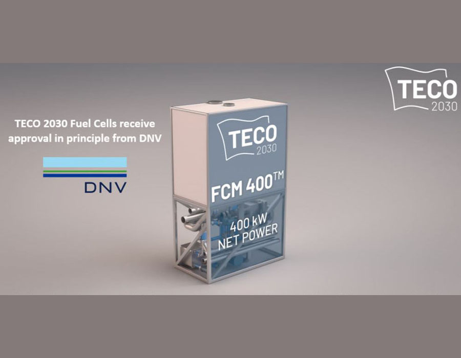 TECO 2030 receives AiP from DNV for marine hydrogen fuel cell system and modules